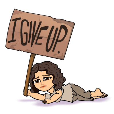 Bitmoji - Give Up